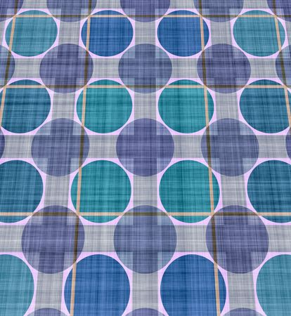 Spread blue blanket with circles