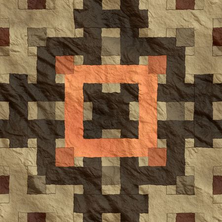indian artifacts: Flat surface from indigenous blanket  Stock Photo