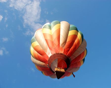 Bottom view of colorful hot air balloon                                 Imagens