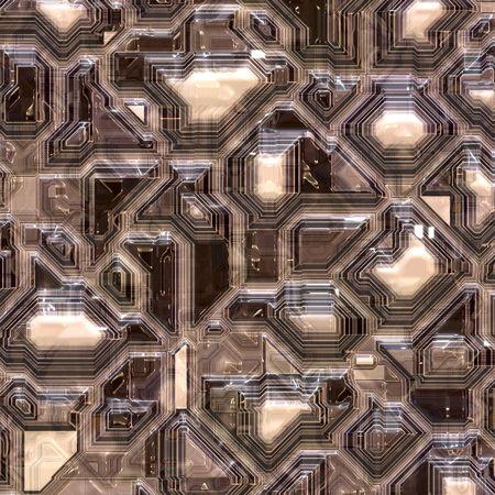 Closeup view of printed computer circuit board Banco de Imagens