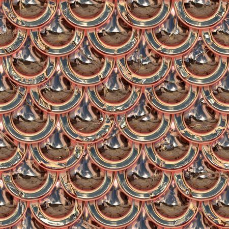 Polished metallic surface with rivet pattern Archivio Fotografico