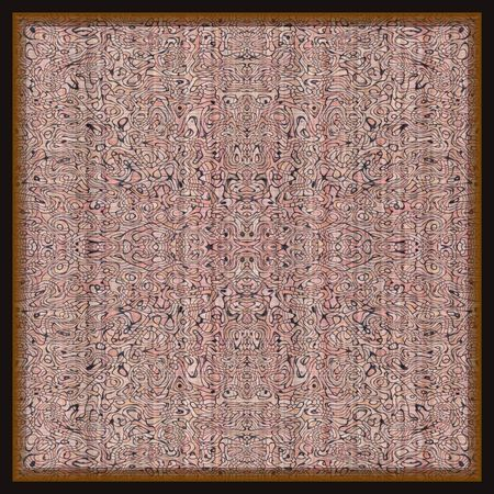oriental rug: Isolated oriental rug in square shape for background Stock Photo