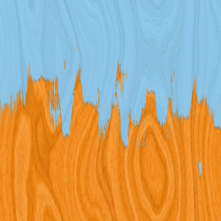 Piso laminado de madera con pintura azul Foto de archivo - 3289043