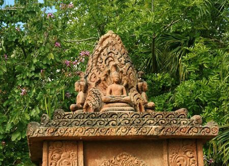 Old Indian shrine hidden in the jungle