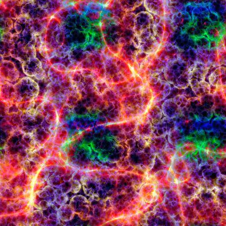microscopisch: Kleurrijke DNA tekenreeksen onder Microscoop