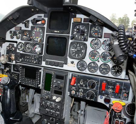 tablero de control: Militar jetfighter cabina panel de control