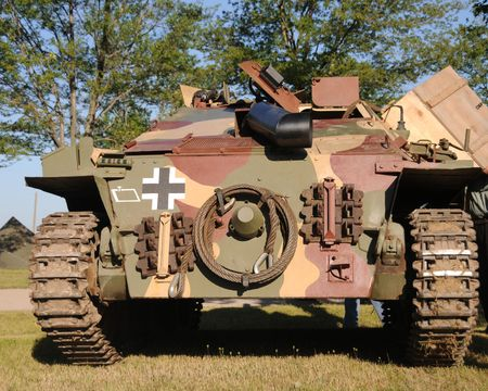 World war 2: Front view of World War II era German tank
