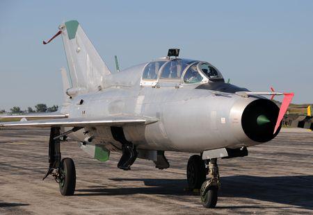 cold war: Cold War era Soviet made jetfighter Mig-21 Stock Photo