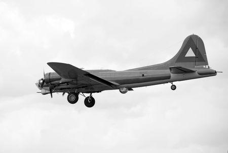 whote: World War II era American Flying Fortress heavy bomber Stock Photo