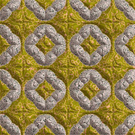 bedspread: Yellow pattern on bedspread for background