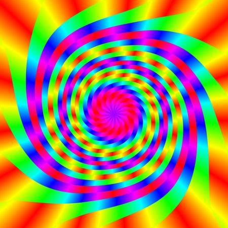 spinning: COlorful kaleidoscope with rainbow spectrum in a vortex