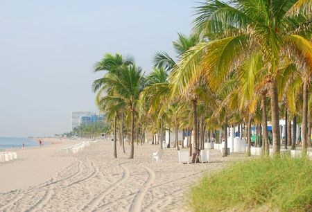 Early morning view of Fort Lauderdale Beach, Florida Stock Photo