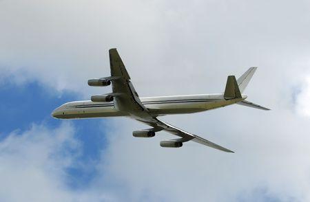 jetliner: Classic jetliner in leveled flight and gear up
