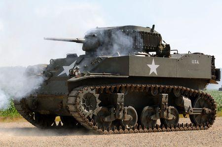world war ii: World War II era American army tank Stock Photo