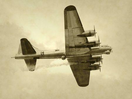 World War II era American bomber photo