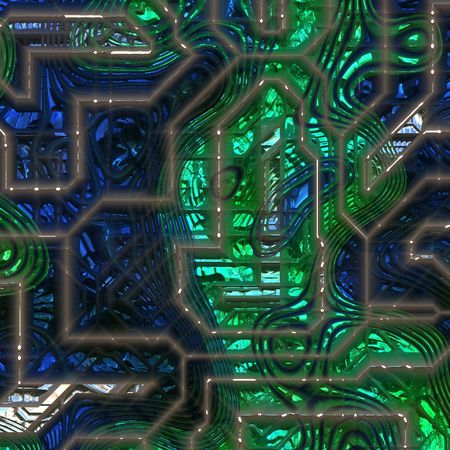 electronical: Detailed view of circuit board diagram for  Stock Photo