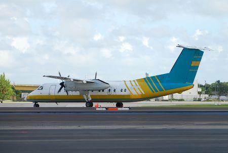 Propeller passenger airplane for regional travel