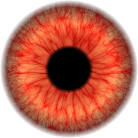 Closeup view of isolated bloodshot eyeball Фото со стока - 3650904