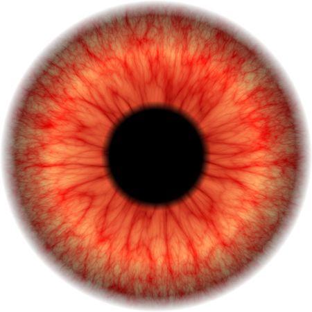 Closeup vista de globo ocular aislado inyectados de sangre Foto de archivo