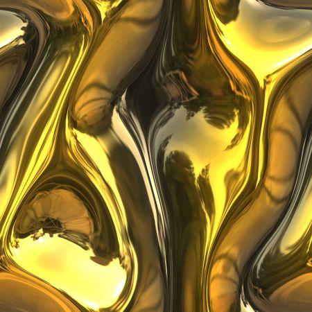 Close-up van het smelten van goud glanzend metaal Stockfoto - 3711561