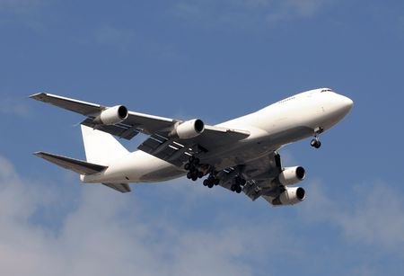 Heavy cargo jet in white color