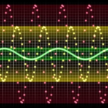 High tech electronic display with wave chart Stock Photo - 3762454