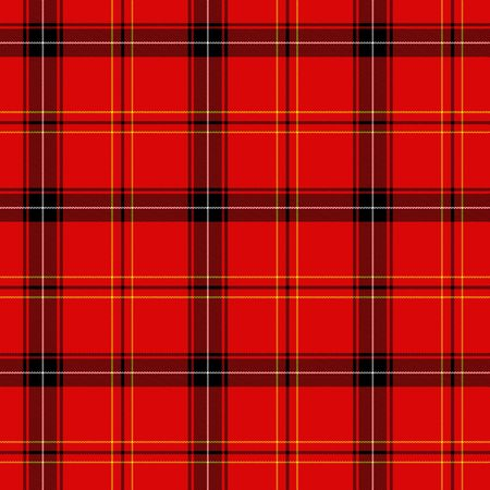Traditional red Scottish tarna for background Stock Photo