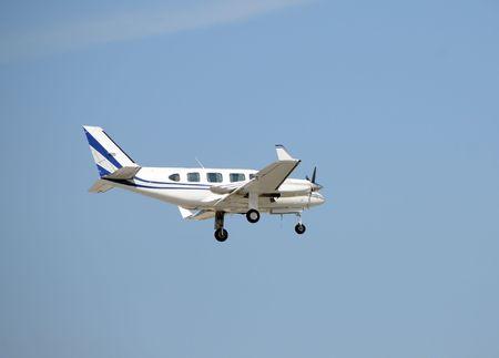 turboprop: Small turboprop airplane in flight