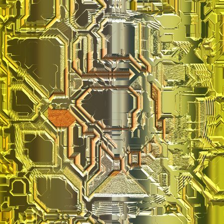 Gouden en zilverkleurige metalen oppervlak Stockfoto