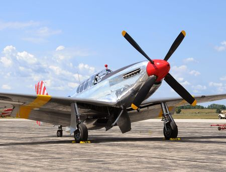 World War II era American fighter plane