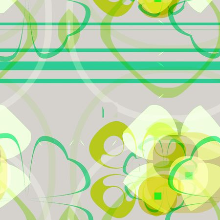 Computer generated background with floral motif