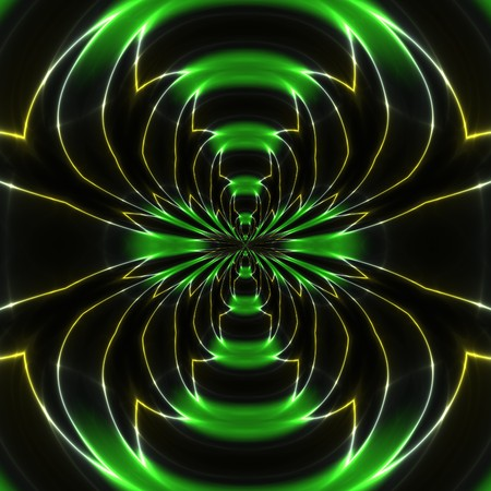 Electromagnetic waves against black background