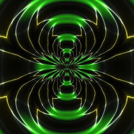 Elektromagnetische golven tegen de zwarte achtergrond