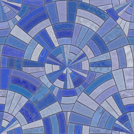 ambience: Closeup view of blue bathroom tiles Stock Photo