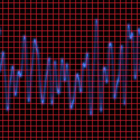 Frequency chart and readout on computer monitor