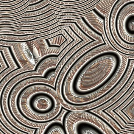 Closeup of artistic etching on silver metal Archivio Fotografico