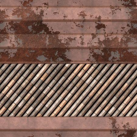 metalic texture: Grunge background from old rusty garage door