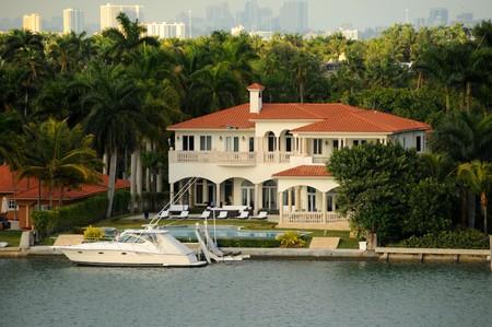 Exclusive real estate in waterfront Miami, Florida photo