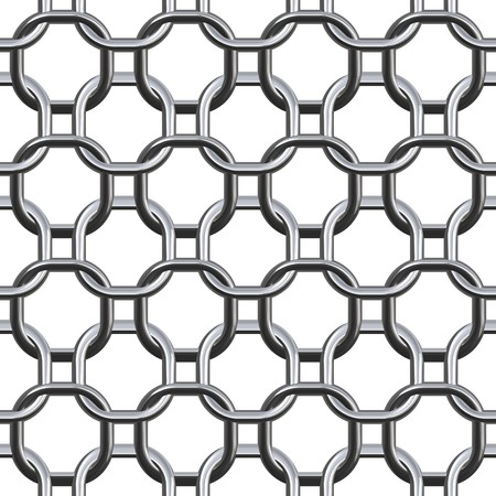 Metallic ring chain isolated on white Stock fotó