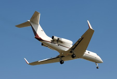 Modern charter jet for business travel Stock Photo - 4075543