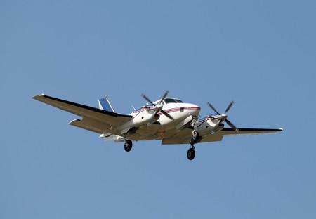 turboprop: Modern turboprop airplane approach for landing