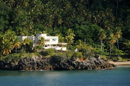 residence: Luxury residence on remote Caribbean island Stock Photo