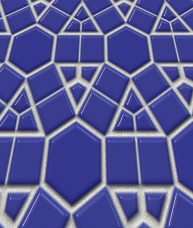 Shiny polished blue tiles for background