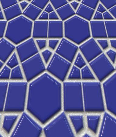 polished: Shiny polished blue tiles for background