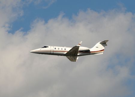 Small light jet airplane for corporate charters photo