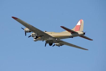 World War II era flying fortress bomber photo