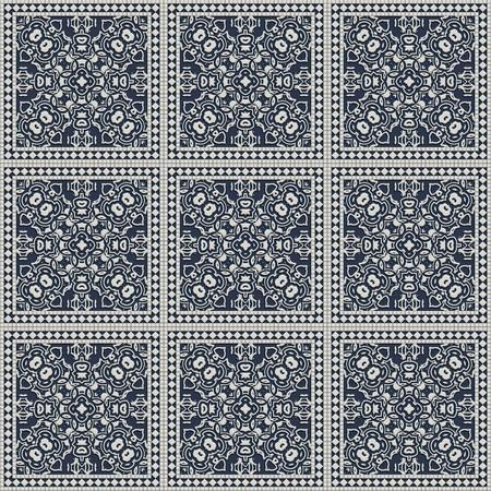 Artistic ceramic tiles for interior decor photo