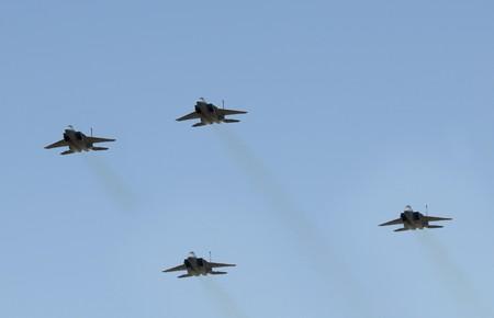 Formation of modern USAF jet fighters