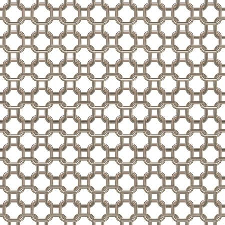 chainlink: Metallic chainlink isolated on white background Stock Photo