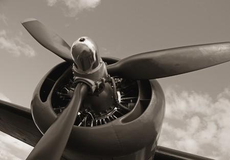 Alte Flugzeug-Propeller Standard-Bild - 4524645